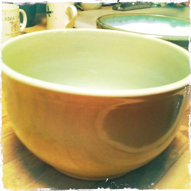 This bowl didn't photograph quite right, but it's a beautiful color.